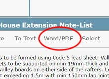 Export to PDF / Word