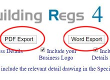 Export Word/PDF file