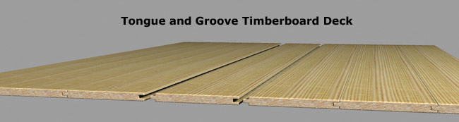 Tongue and Groove Timberboard Deck