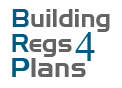 BuildingRegs4Plans Text Logo