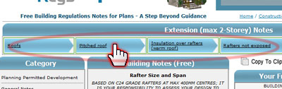 House Extension Notes Menu System